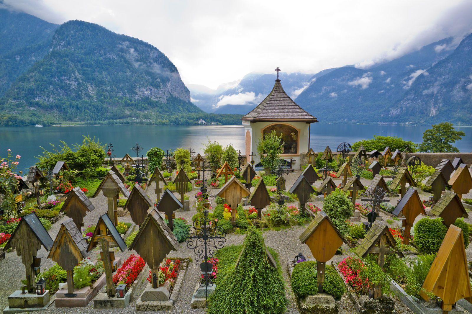 This Quaint Austrian Town Gives Us Serious Wanderlust   Colorful places,  Cemeteries, Ancient village