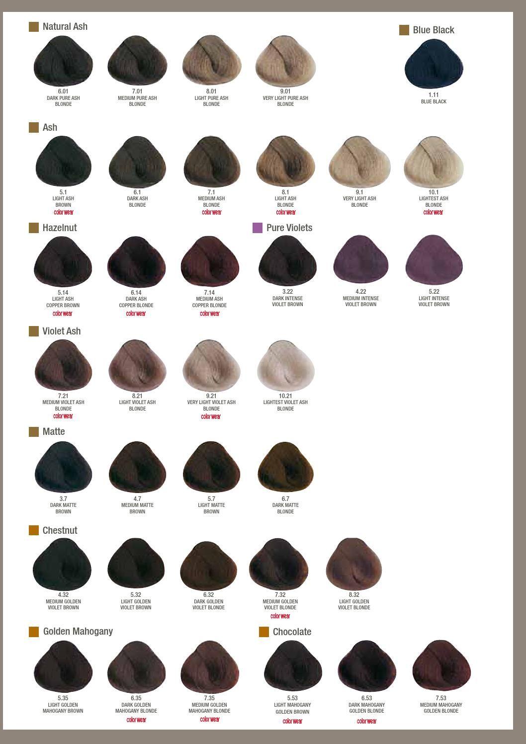 Alfaparf Milano Usa Evolution Of The Color 179 Color Chart