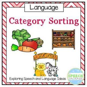 Category Sorting Preschool speech therapy, Speech