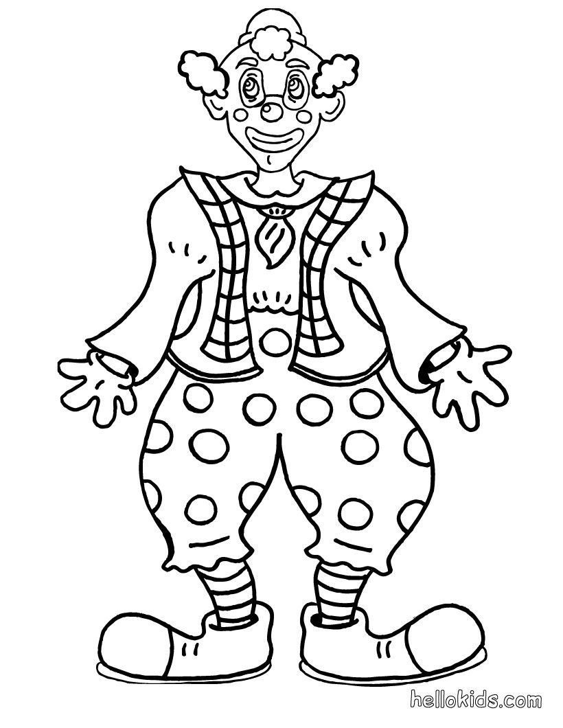 clown coloring page | Clowns | Pinterest | Embroidery