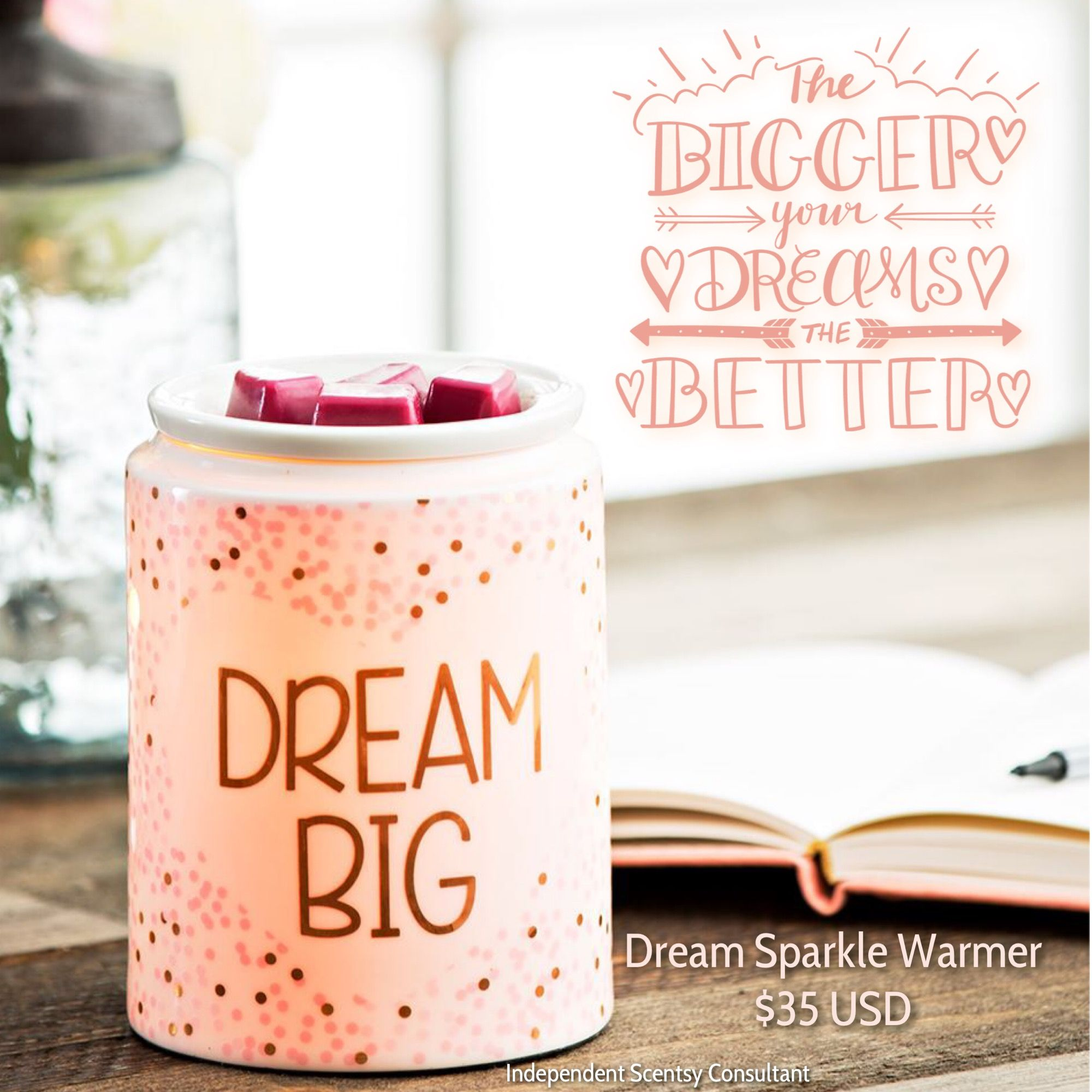 Scentsy Dream Sparkle Warmer Available Spring Summer 2018