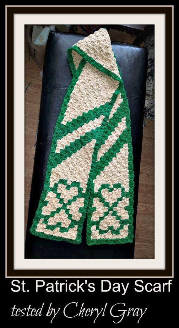 Hearts Scarf C2c Crochet Pattern Written Row Counts C2c Graphs