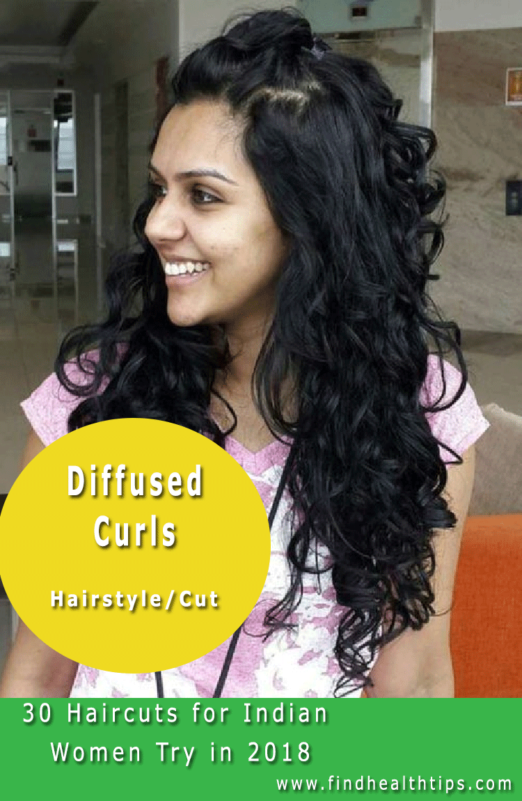 Diffused Curls Haircuts For Indian Women 2018 Curly Hair Styles Indian Hairstyles Medium Hair Styles