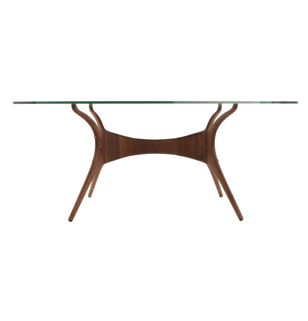 Karizona Solid Walnut And Glass Dining Table   Matt Blatt