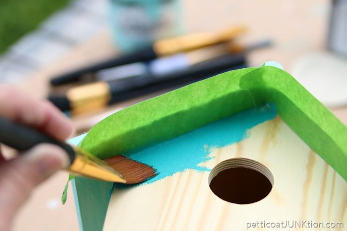 Beach Lover Birdhouse Project: Coastal Paint In Ocean Colors