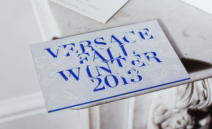 Fashion week A/W 2013 invitations: menswear - Versace