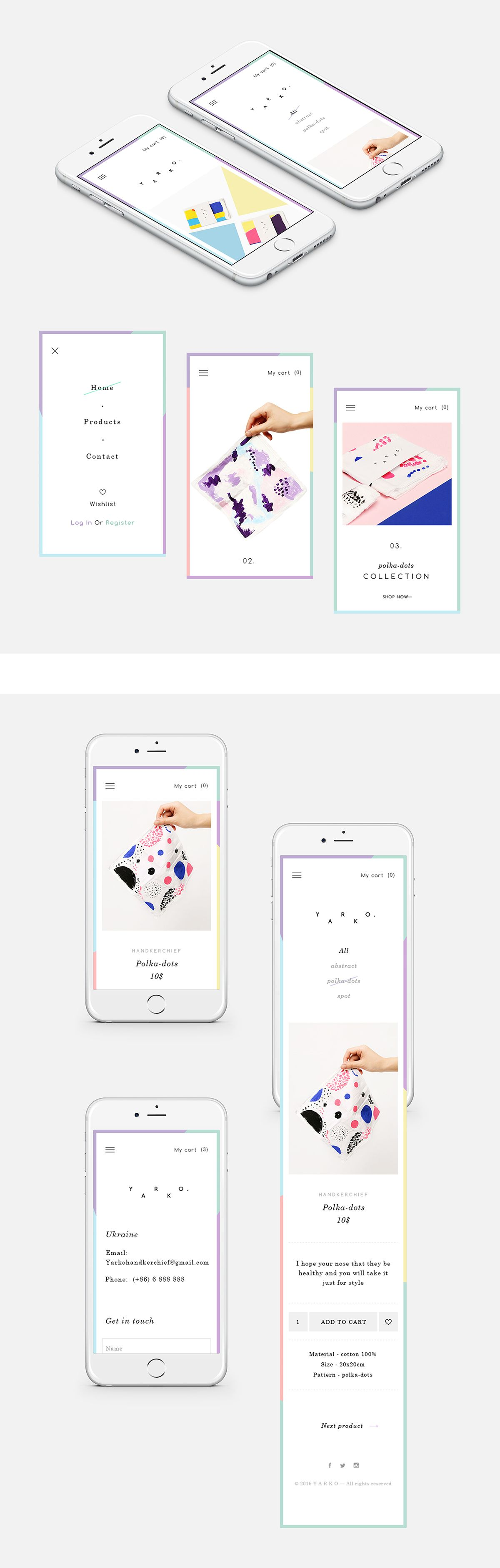 Y A R K O e commerce website on Behance