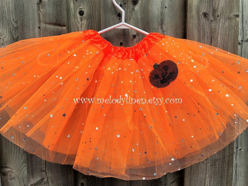 Pumpkin tutu thanksgiving outfit Orange thanksgiving pumpkin tutu halloween tutu fall tutu Autumn pumpkin tutu fall tutu Orange sparkle tutu
