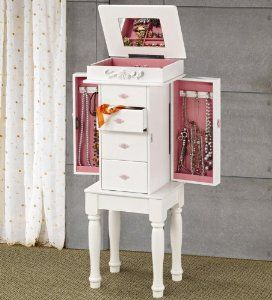 Coaster 900146 Traditional Jewelry Armoire, White  http://electmejewellery.com/jewelry/coaster-900146-traditional-jewelry-armoire-white-com/