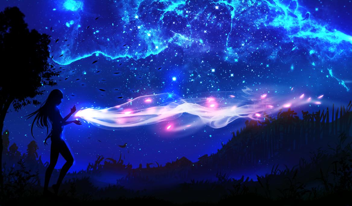 Wind Elemental By Ryky On Deviantart Sky Anime Night Landscape Night Art