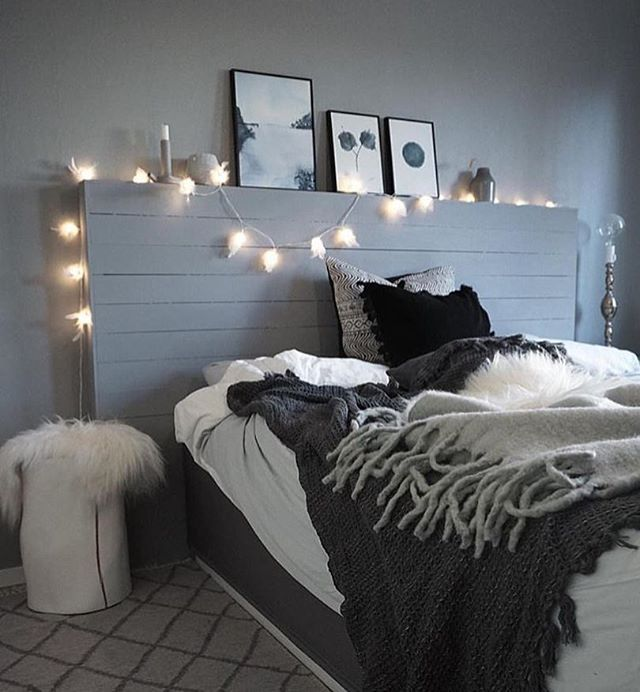 Dreamy bedrooms on instagram photo casachicks for for Bedroom designs black and grey
