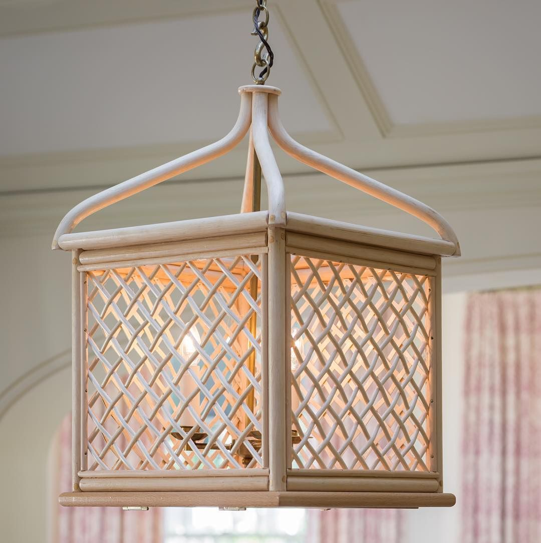 The Bird Cage Lantern Is Made From Cane In The Last Rattan Weaving Workshop  In England