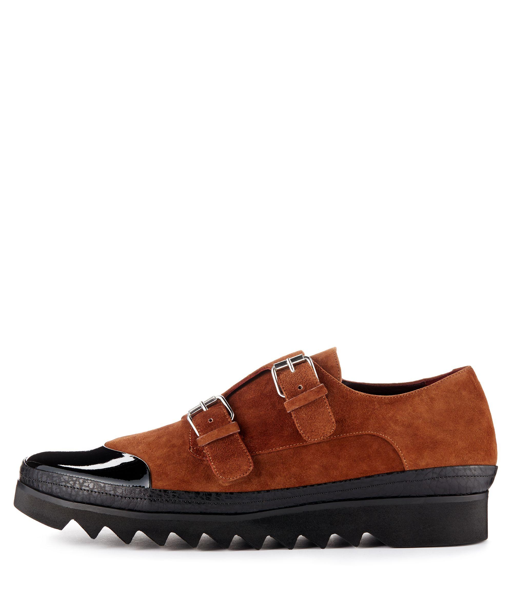 Treads Monk Shoes Cognac/Black #AW1415