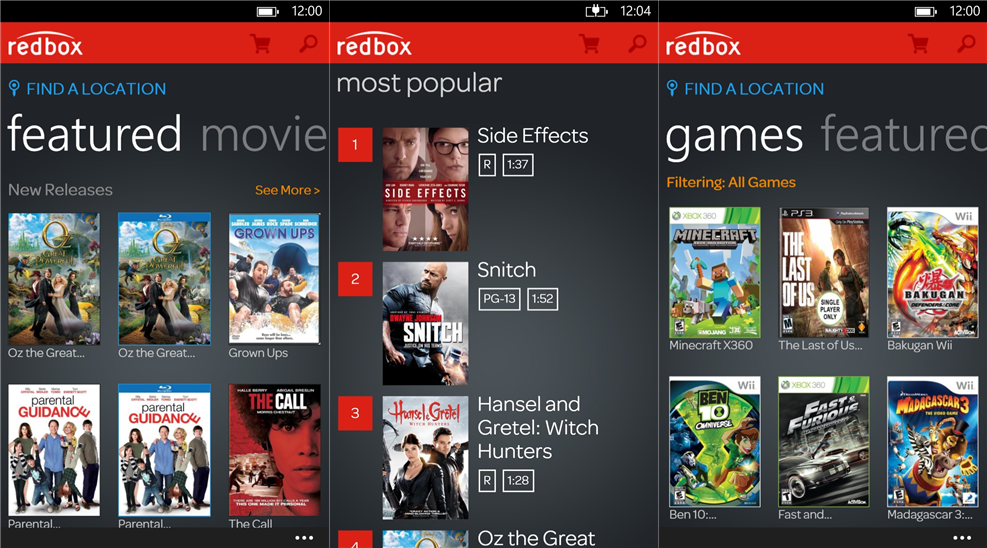 Official Redbox application available for Lumia WP8