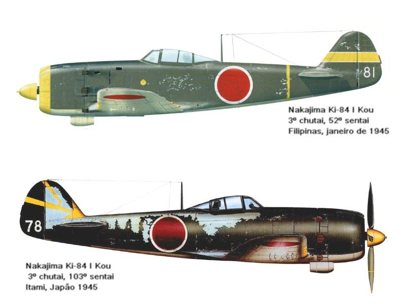 Nakajima Ki 84 Hayate Frank S Izobrazheniyami Aviaciya