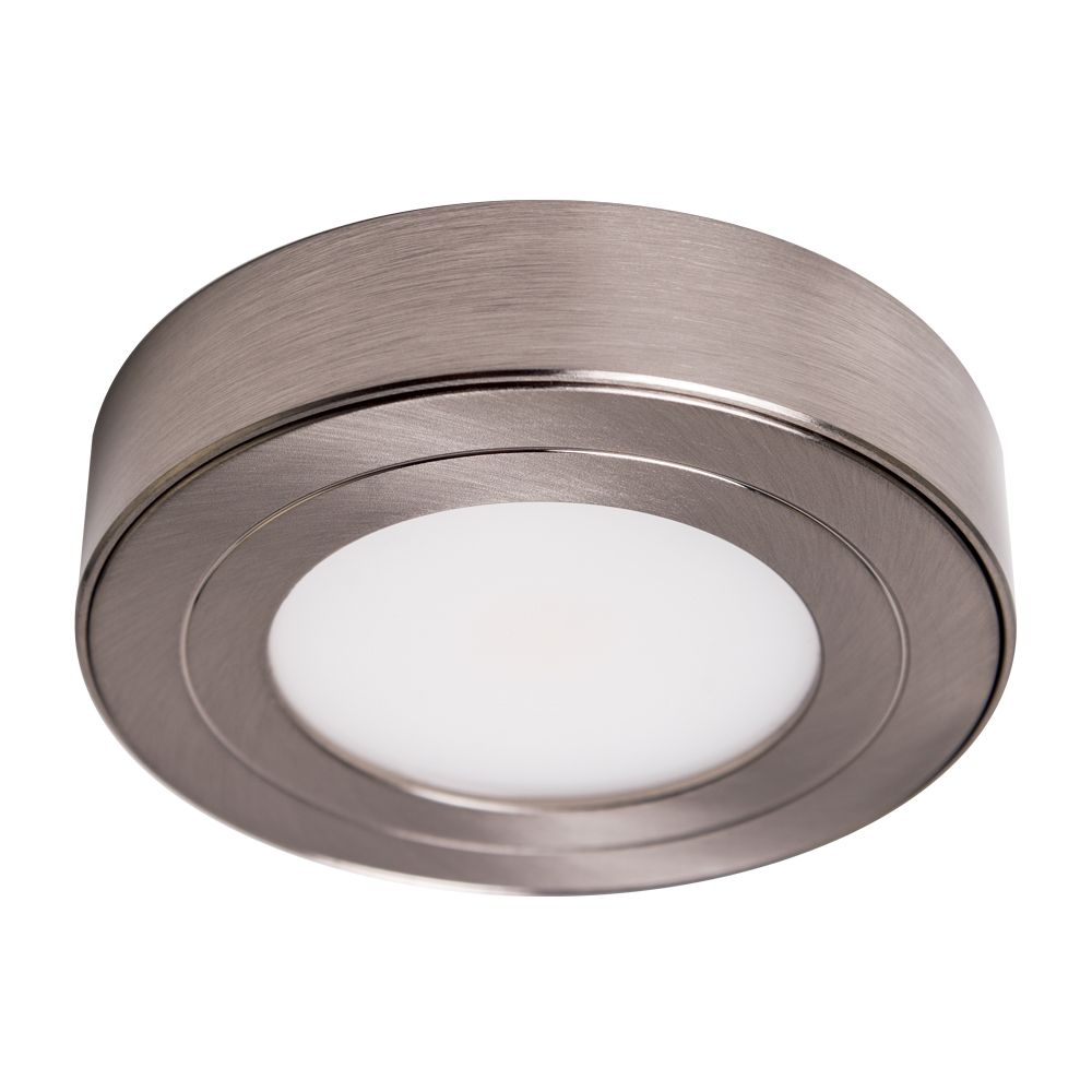 Purevue Dimmable Led Puck Light Puck Lights Under Cabinet Lighting Brushed Steel