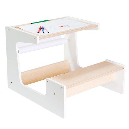 voici un bureau d 39 colier au design pur et moderne l 39 enfant s 39 installe sur le petit banc il. Black Bedroom Furniture Sets. Home Design Ideas