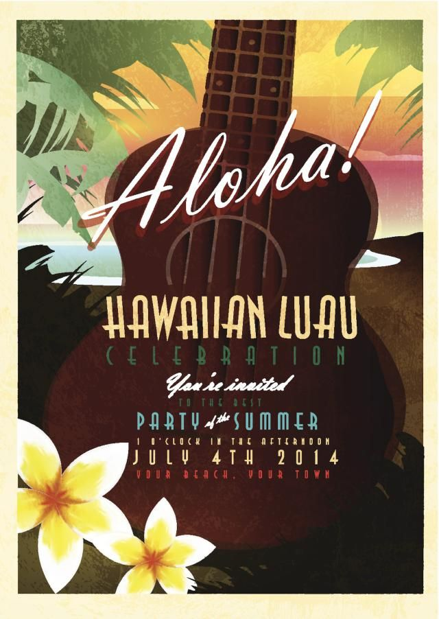 luau wedding invitation templates%0A How to Throw the Best Luau for Your Anniversary Party  Hawaiian Party  Invitations