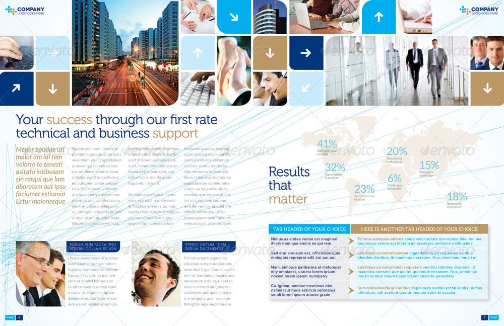 Brochure Template - InDesign 8 Page Layout 06 #Ad #InDesign, #SPONSORED, #Template, #Brochure, #Layo...