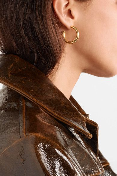 7cb16072a118d Sophie Buhai - Everyday gold vermeil hoop earrings in 2019 | Gold ...