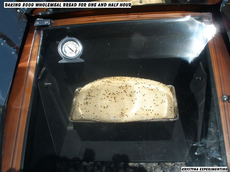 Nicely baked bread using a solar oven... check our range of solar ovens www.suncooking.com.au