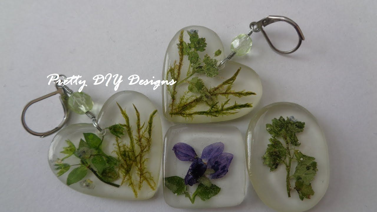 Easy Resin and Dried Flowers Pendants YouTube Resin