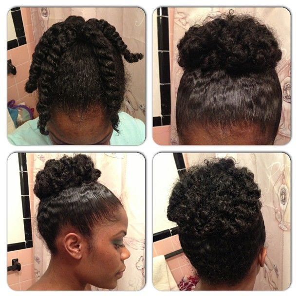 Twist Out Into Bun I Ve Done This Before But Forgot About It Cute