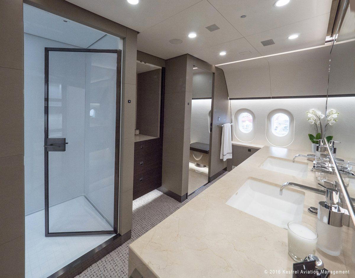 The bath area also features a double-size shower as well as heated marble floors in some sections.