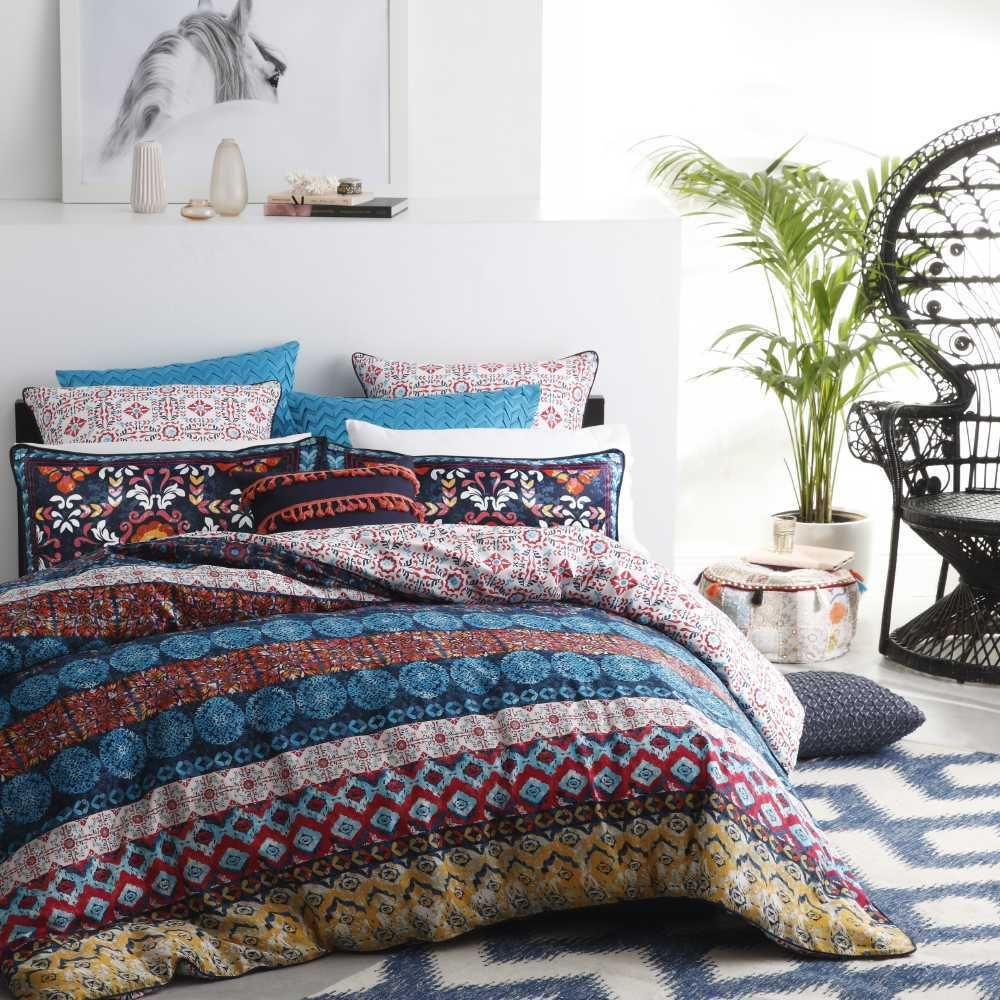 Logan & Mason Pablo Ochre Quilt Cover Set Multicoloured