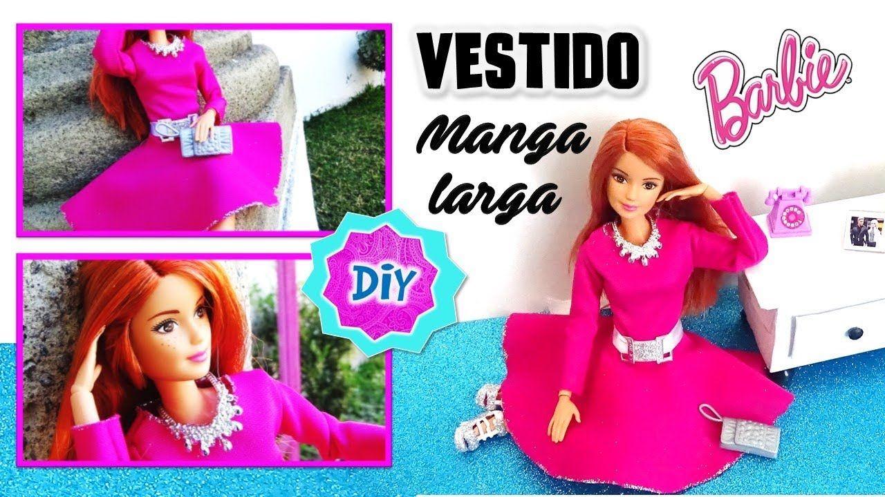 2d5b15dafd43 Como hacer VESTIDO Elegante para MUÑECAS Barbie // Ropa y ...