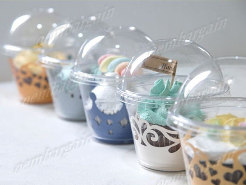 Wholesale 100pcs Lot Clear Plastic Cupcake Liner Standard