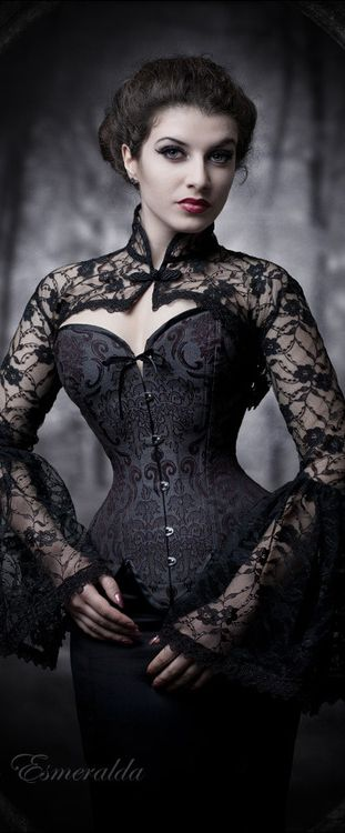 Banned Gothique Goth Victorian Steampunk BOLERO Cardigan-Black Lace Dentelle