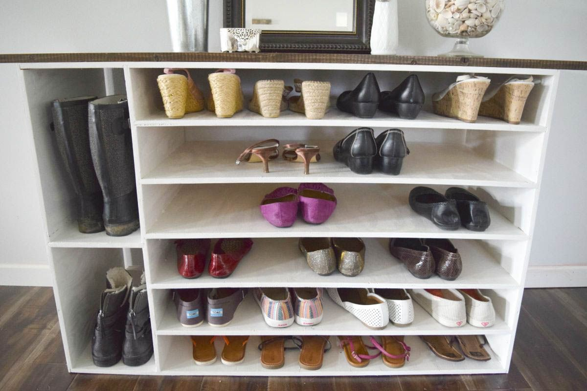 Shoe Racks And Organizers Brilliant How To Make A Diy Shoe Organizer And Rack For The Closet  Diy Shoe Design Inspiration