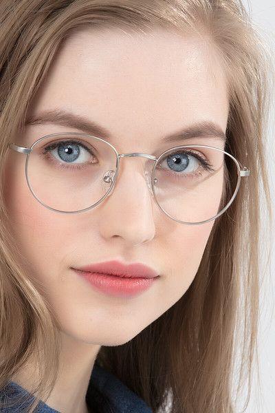 Epilogue Oval Silver Frame Eyeglasses Eyebuydirect In 2020 Fashion Eye Glasses Stylish Glasses Glasses Frames Trendy