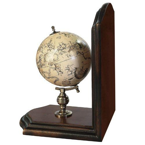 GL009F French Finish Globe Bookends