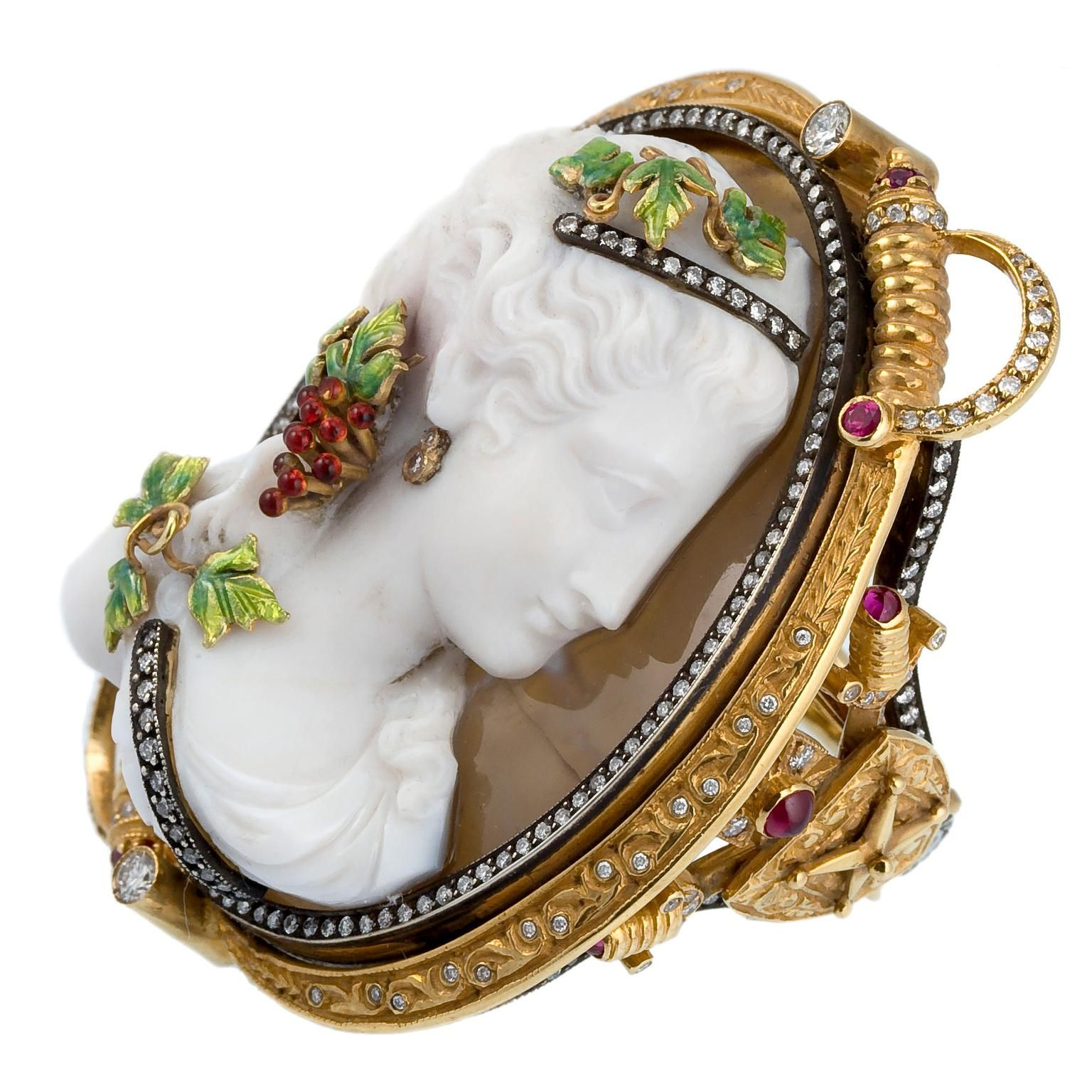 Lydia Courteille Dressed Cameo ring