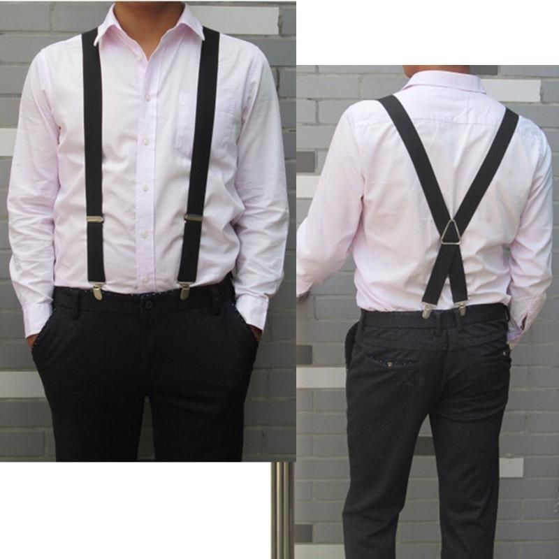 Men's Suspenders Fashion Elastic Adjustable Legs Belts Suspenders For Men Shirt Holders Suspenders Mens Clothes Accessories Complete Range Of Articles
