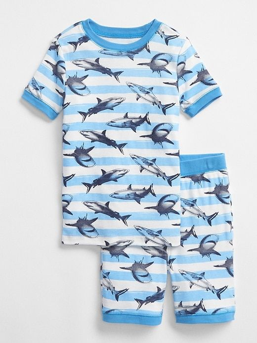 24f8ef42 Gap Boys Shark Short Sleep Set Blue Blaze | Products | Boys ...