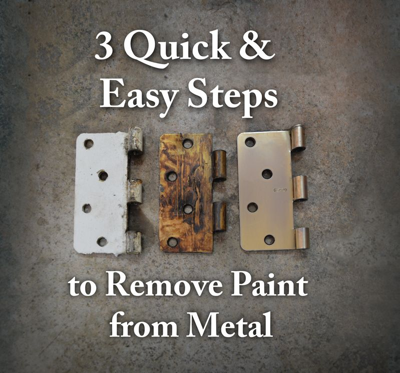 Remove Paint from Metal Hardware 3 Quick and Easy Steps