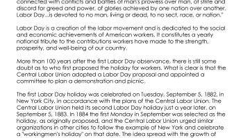 Labor Day- What You Need to Know (free worksheet!)