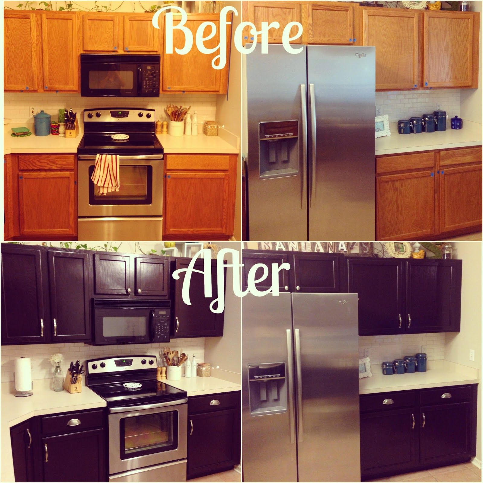 100 Ideas To Try About Kitchen Cabinets: Kitchen Makeover For About $100! Give Your Orange Oak
