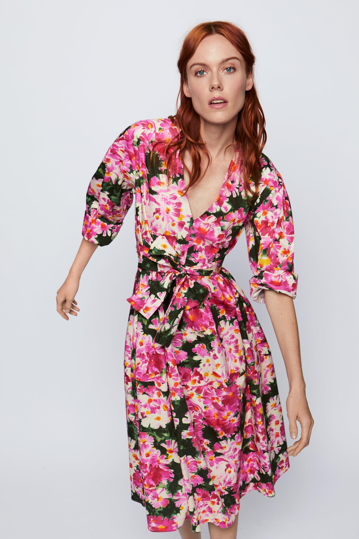Vestido Estampado Cinturón última Semana Mujer Zara España Dresses Fashion Print Dress