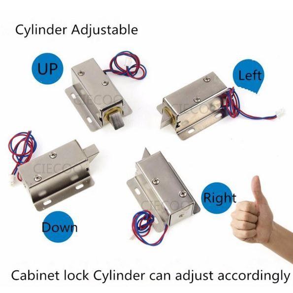 Mini Smart Cabinet Lock Dc12v Bolt Lock Small Electric Lock Security Lock Access Controller Door Access Security Electric Lock Security Locks Bolt Lock