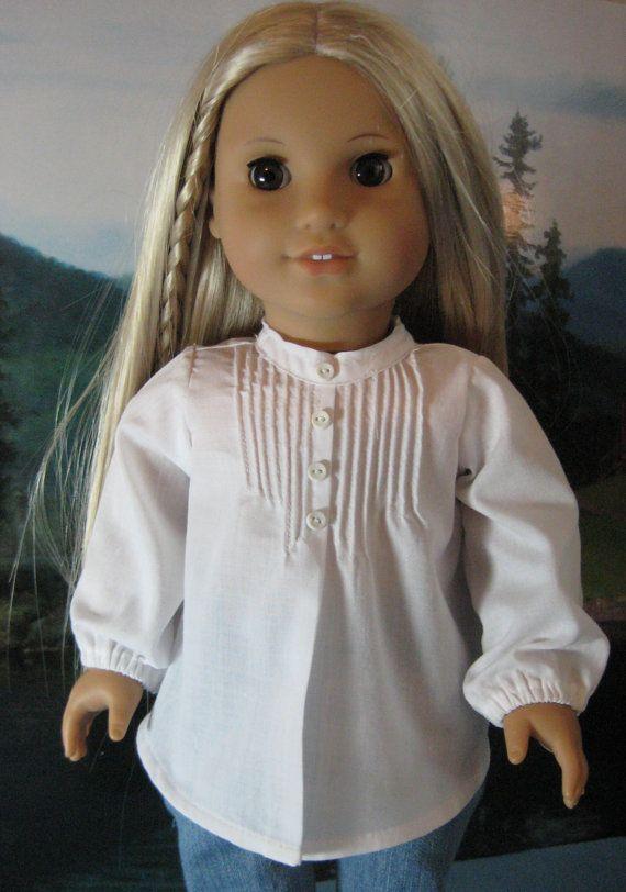18 inch Doll Clothes American Girl Pintuck Peasant by nayasdesigns