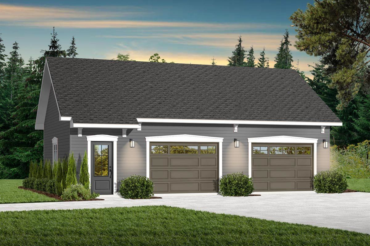 Plan 21943DR Detached Garage with Extra Storage in 2020