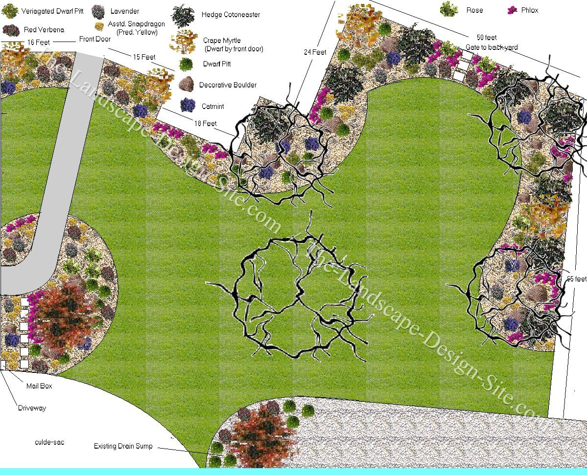 Big Front Yard Landscaping Ideas Part - 21: Front Yard Plan Variety : Plan For Big Front Yard Landscape.