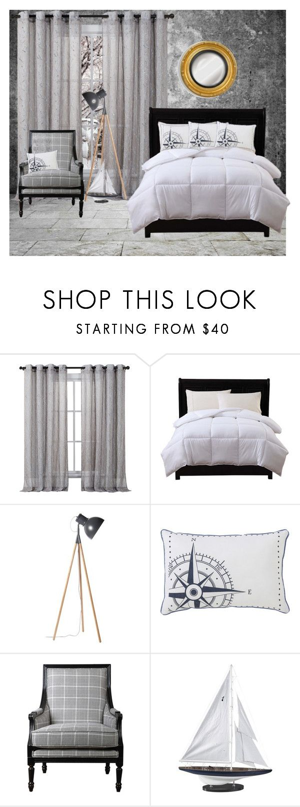 """Samantha_1141"" by samanthaos ❤ liked on Polyvore featuring interior, interiors, interior design, home, home decor, interior decorating, Shibuya, VCNY, Caribbean Joe and Authentic Models"