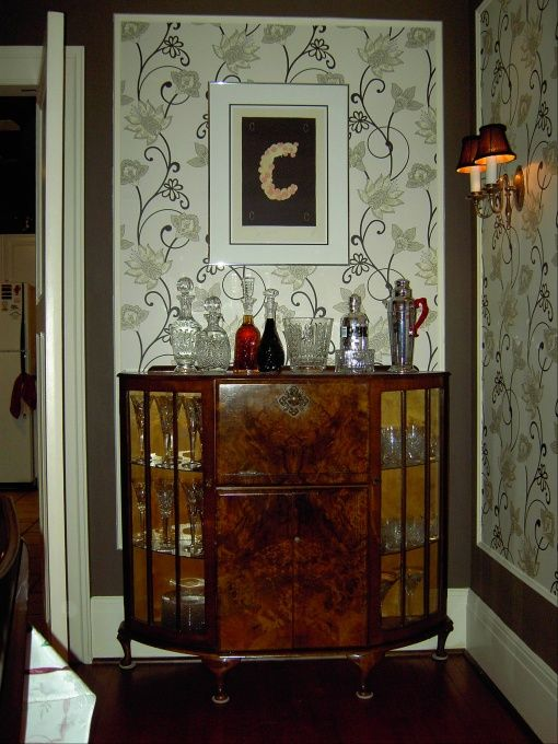 1920s Dining Room   Original 1920u0027s Wallpaper Pattern.