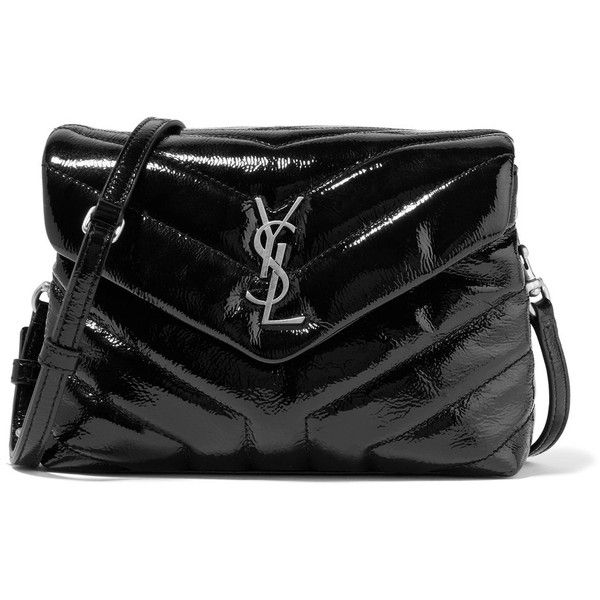 Saint Laurent Loulou small quilted patent-leather shoulder bag (9 ... : quilted handbags leather - Adamdwight.com