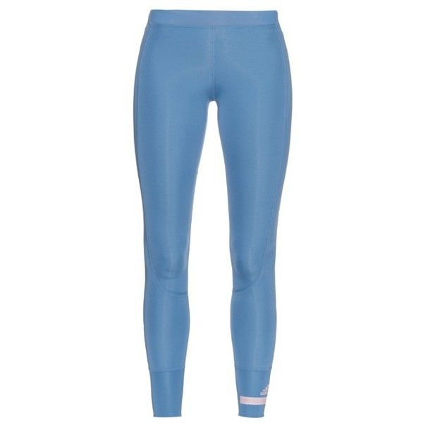 f7064b190d8c9d Adidas By Stella McCartney Cropped performance leggings featuring polyvore,  women's fashion, clothing, activewear, activewear pants, light blue, adidas,  ...